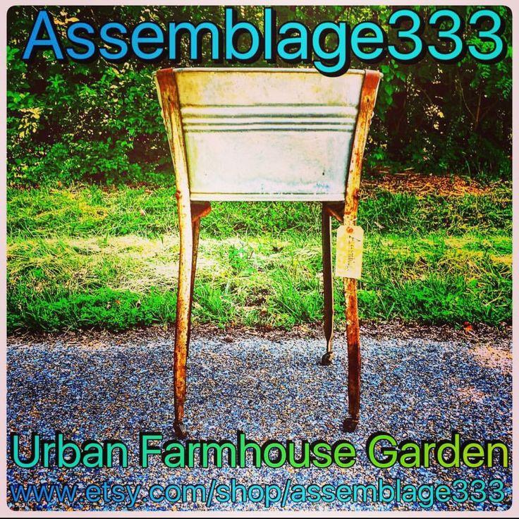 Urban Farmhouse Tiki Bar Backyard Decor from Assemblage333 Beer Cooler