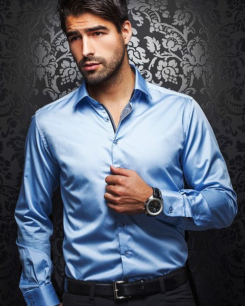 100% Cotton with L. A. treatment, Soft touch with Shiny Sateen effect Grey and Navy contrasting placket. Ground delivery takes 5-7 business days on this item.