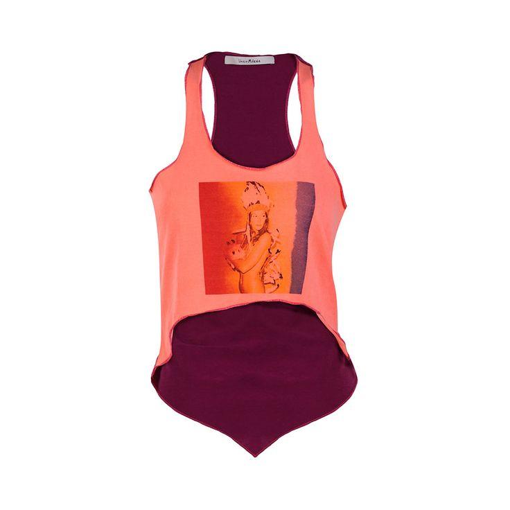 Polera Naranja, Vania Milena, $25.000. Polera bi color corta por delante y larga por detrás, es perfecta para un día relajado o de playa....