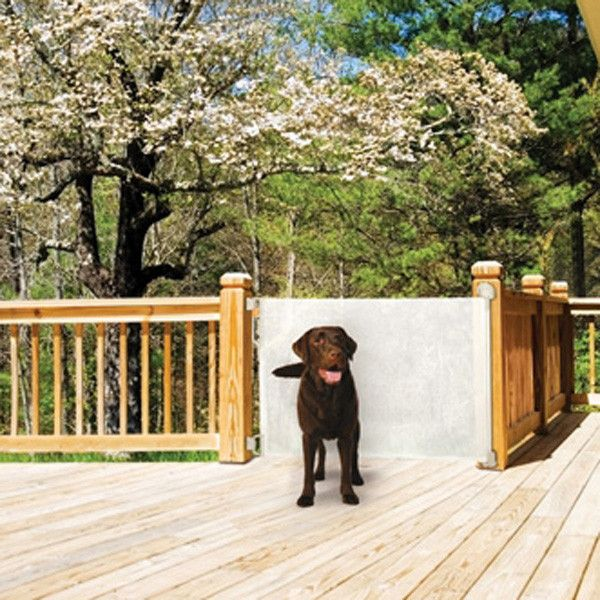 Bindaboo Retractable Fabric Dog Barrier Gate. Durable Mesh Fabric Dog Gate  Opens Up To 55