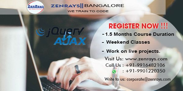 REGISTER NOW for  #jQuery this weekend 1st & 2nd July 2017 @ Koramangala 4th Block, Bangalore, #Bengaluru India. CALL +91 9916482106 or WhatsApp +91 9901220350 to register.