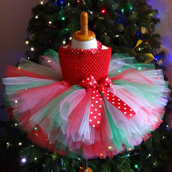 Christmas Tutu Dress Christmas Dress Green Red Dress Baby