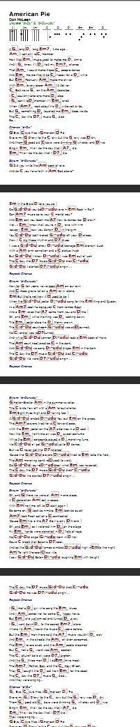American Pie (Don McLean) - http://myuke.ca