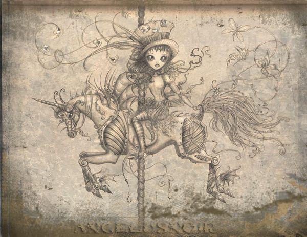 carousel horse tattoo idea