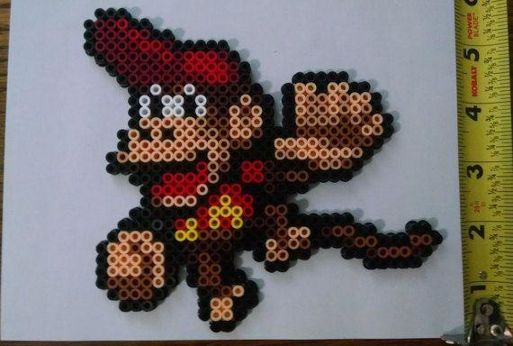 DIDDY KONG Smash Brothers/Donkey Kong Country Bead Sprite + Lanyard