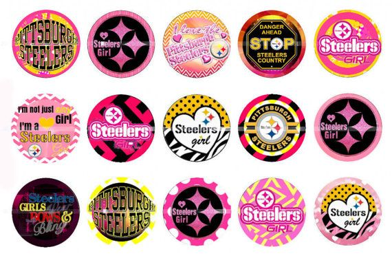 Pittsburgh Steelers bottlecap images pink Steelers by bssupplies