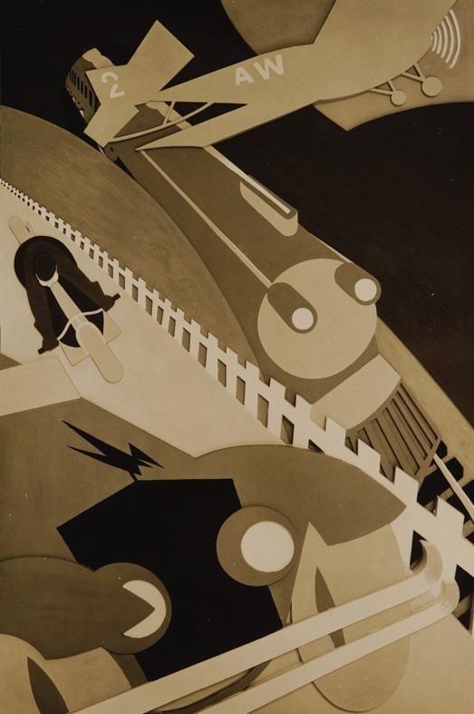 Almada, 'Perseguição', painel em relevo para a fachada do Cine San Carlos, Madrid, 1929