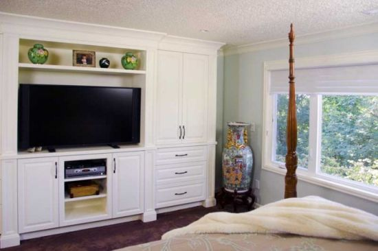 Best Custom Bedroom Tv Wall Unit With Built In Cupboard For 400 x 300