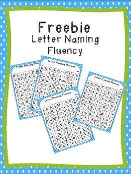 Letter Naming Fluency Freebie!