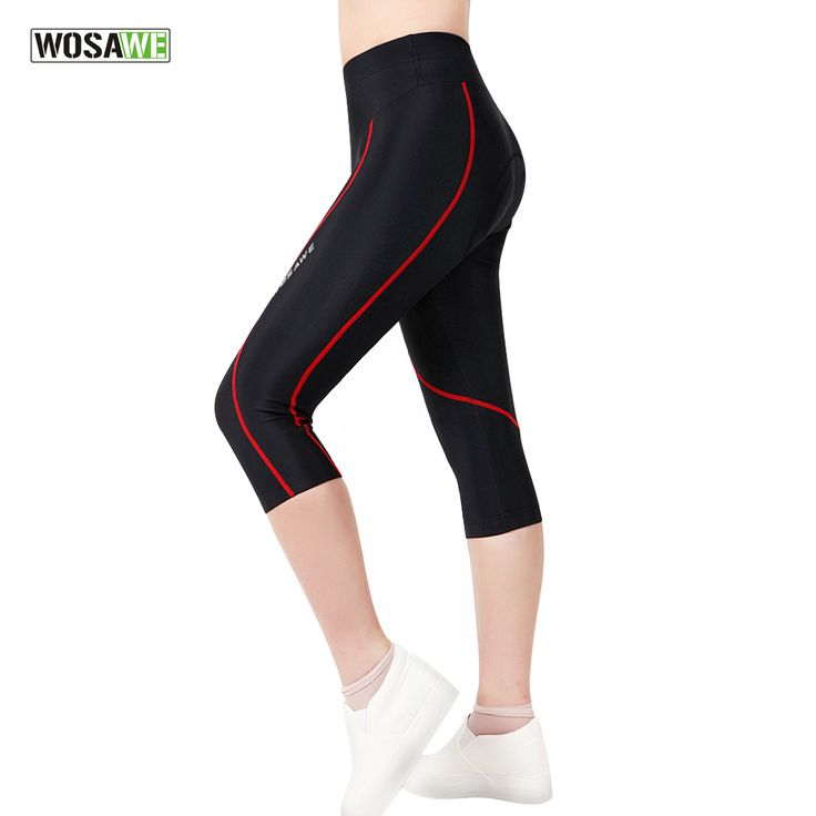 ==> [Free Shipping] Buy Best WOSAWE Female Ladies Girls Cycling Pant 3D Padded Bike Shorts Downhill Bicycle Tights 3/4 Pants Sports Riding Trousers Spandex Online with LOWEST Price | 32821000514