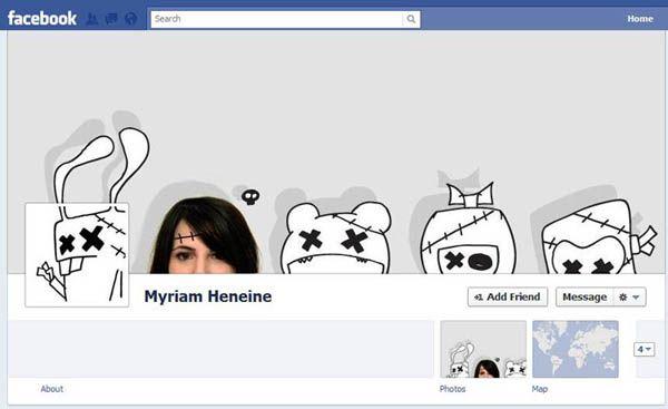 creative #facebook timeline cover (Private Profile)