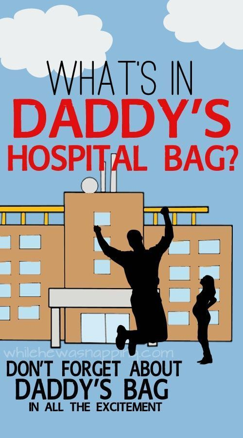 What's in Daddy's Hospital Bag? Great list! Would be cute to make dad and mom both hospital bags with extra comforts as a gift.