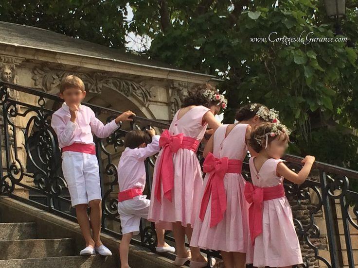 Cortège Marine: rose tendre et framboise - Cortèges d'été - Les Cortèges de Garance