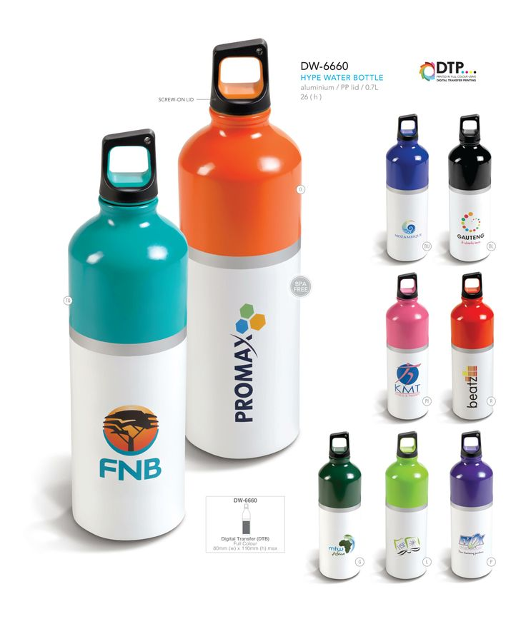 Hype Water Bottle - Corporate Gifts - Drinkware on http://www.ignitionmarketing.co.za/corporate-gifts