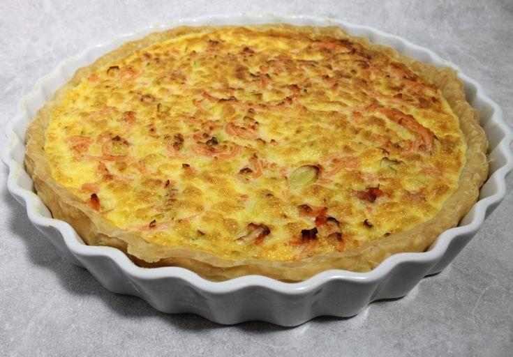 recette de Quiche au saumon fumé et aux poireaux par Alain Ducasse