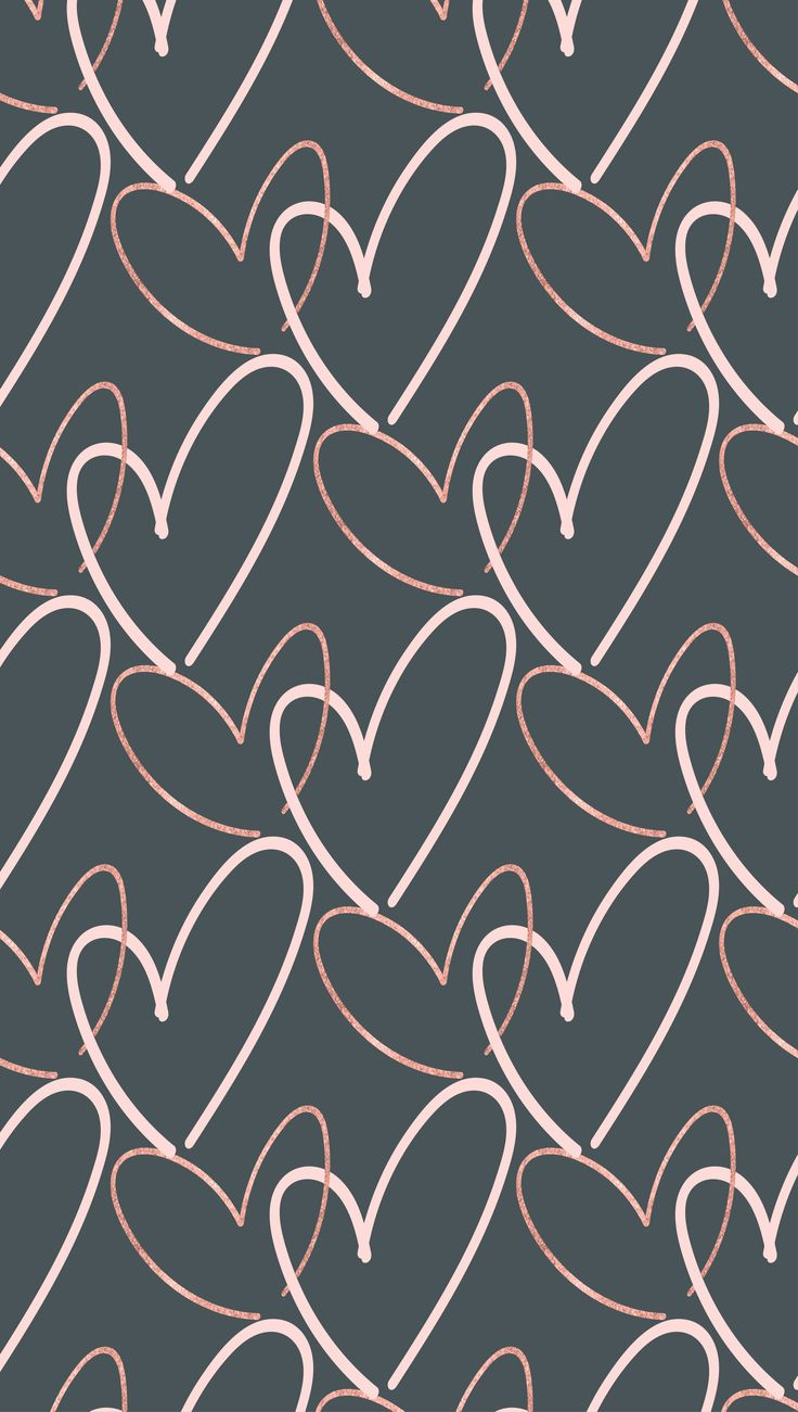 FREE Valentine's Day hearts phone background wallpaper