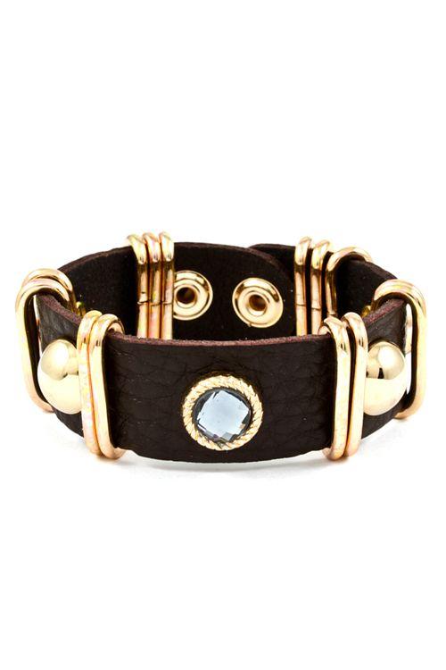 Chocolate Leather Sadie Bracelet <3