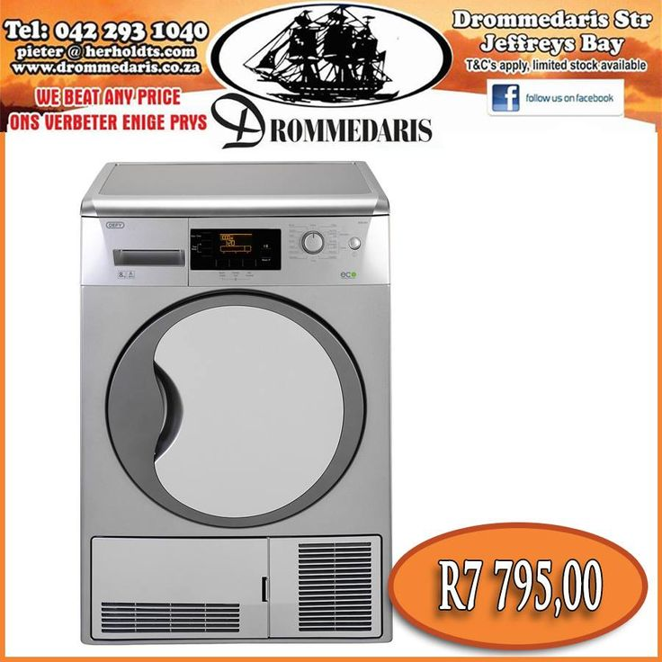 This Defy heat pump dryer has an 8kg drying capacity, anti-creasing technology, a drum light and more user friendly features! We have a full range of Defy products on our online store that can be shipped for free! click here, http://apost.link/10c. #appliances #onlineshopping #homeimprovement