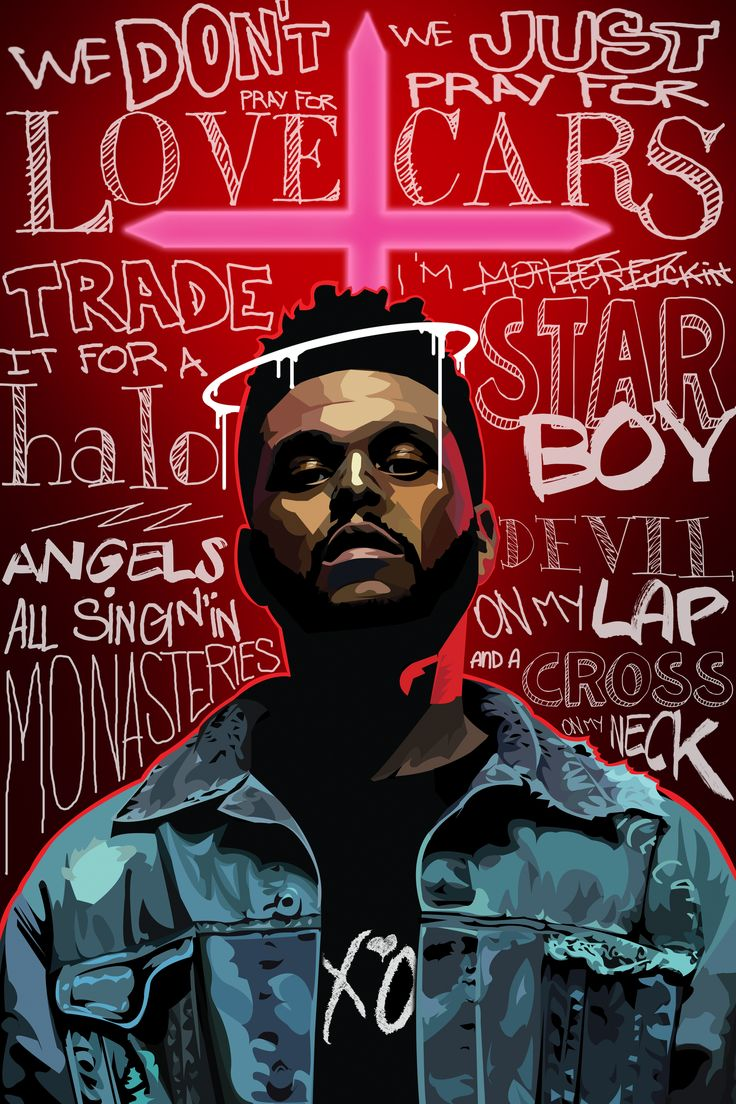 The Weeknd & quotes from STARBOY theweeknd