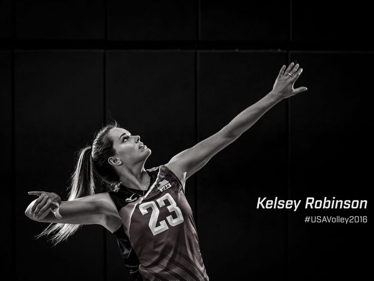 Kelsey Robinson is my volleyball role model! She is an outside hitter like me and she is on the US women's volleyball team. She is also one of the youngest players on the team and that's me on the school team.