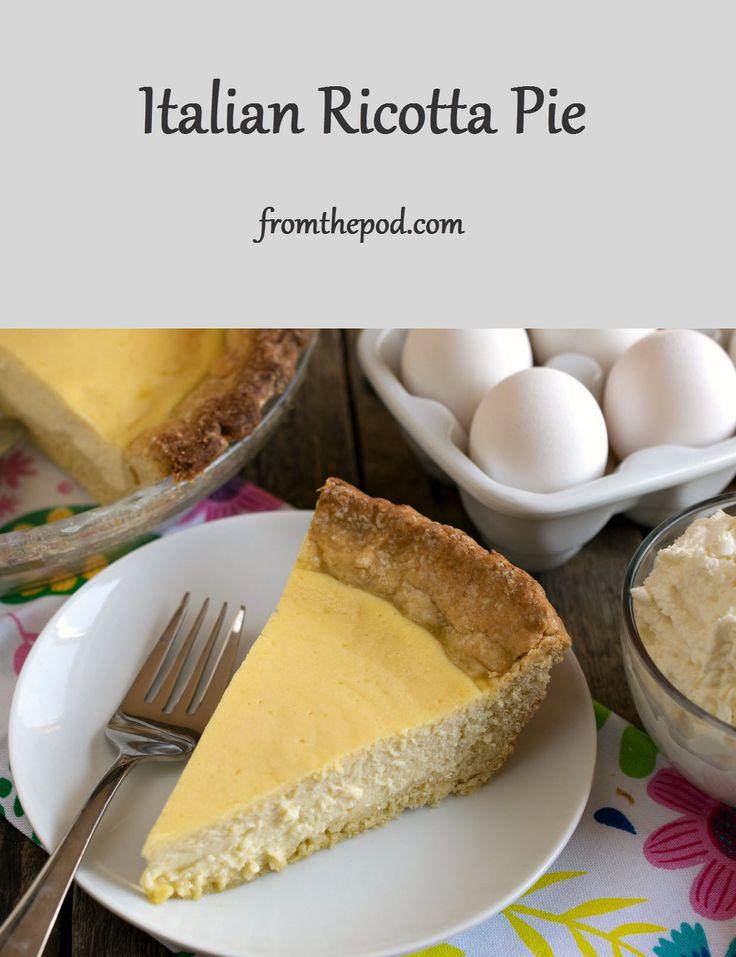 Best 25+ Ricotta pie ideas on Pinterest | Ricotta pie ...