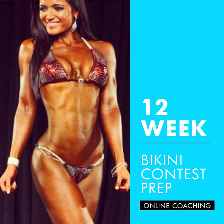 With the 12 WEEK BIKINI COMPETITION PREP PROGRAM, you will receive 12 weeks of all inclusive competition preparation. See details of this program below...