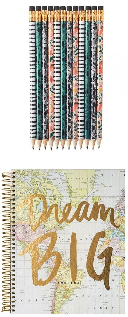 """13. Cute Notebook & Pencils – Most women I know are big list makers.  It's a fantastic way to keep track of your """"to do's"""" and the feeling of crossing something off as DONE is amazing. Gift your friends a cute notebook and set of pencils. 