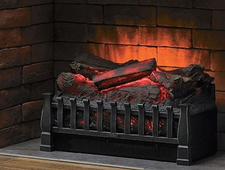 Electric Logs with Heater Fireplace Log Set Insert Decorative Ventless Wood Burn #Duraflame