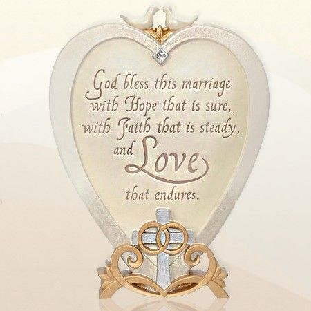 Christian Wedding Blessing Plaque Gift