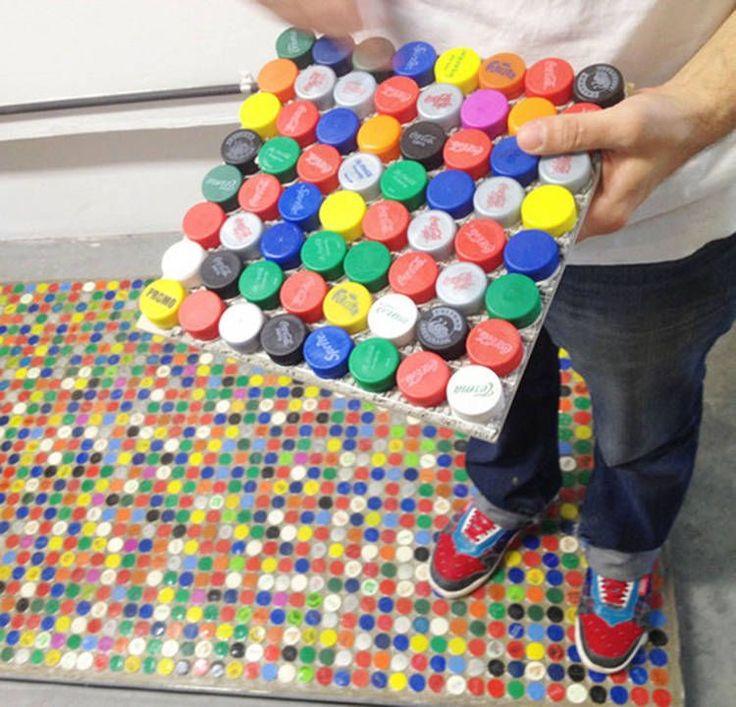 72 best images about plastic bottle caps diy crafts art on for Diy bottle cap crafts