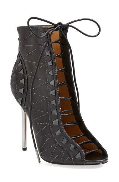 L.A.M.B. 'Tyra' Open Toe Bootie