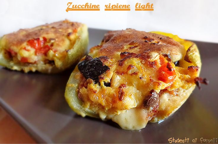 Zucchine ripiene light cotte in padella | Ricetta zucchine senza carne
