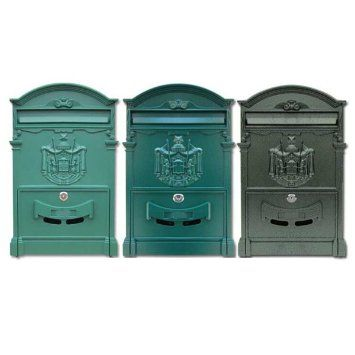Sunday&May Retro Vintage European Style Aluminum Wall Mount Mailbox Letter Box