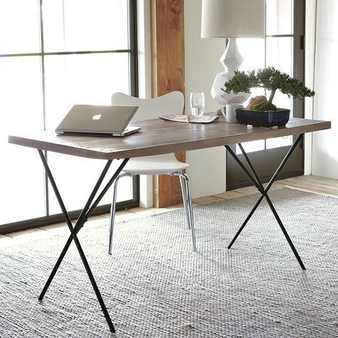 Driven By Décor: Kitchens with Small Dining Spaces: Use a Desk for Your Table!