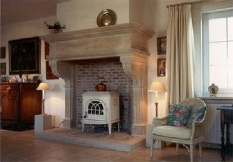 Zandstenen open haard vuur schouw op maat 480 333 pixels yga huis pinterest - Traditionele keukens ...
