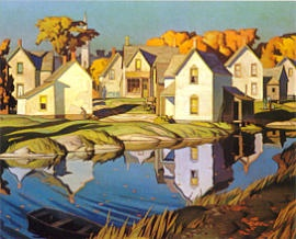 """The White Village"", A.J. Casson, Canadian Group of Seven"