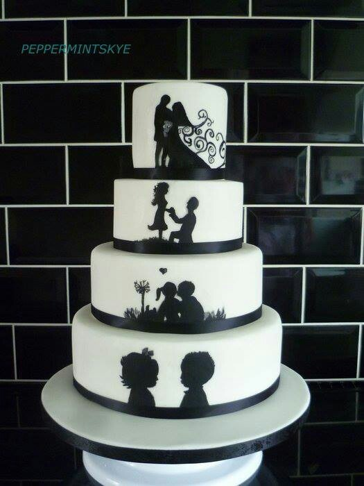 Wedding Cake ♡ ♡ ♡ Love this! Perfect for those couples that have been together FOREVER!!