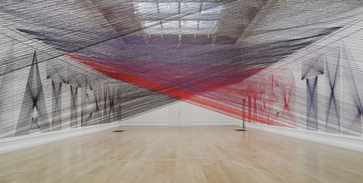 Featured Image for Colossal yarn installation by Pae White
