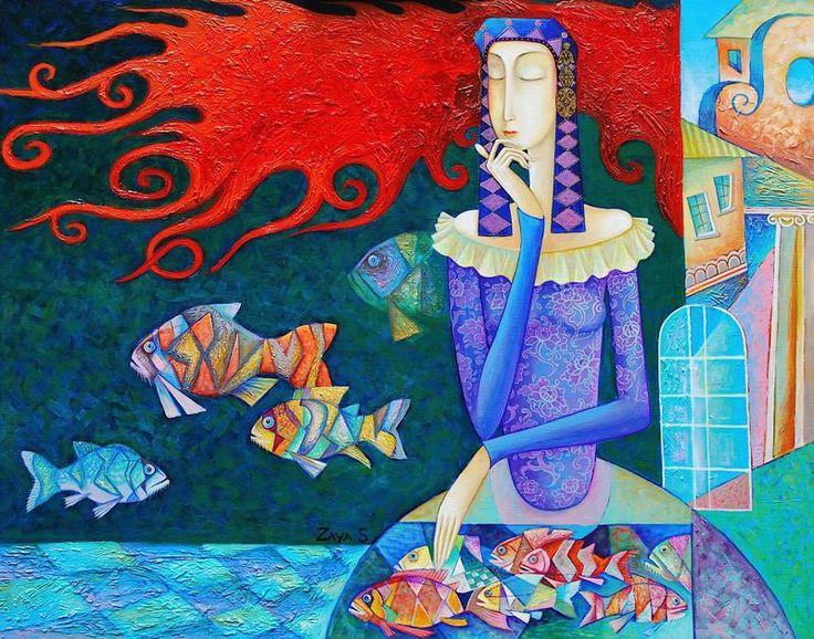 Монгольский художник Zayasaikhan Sambuu ( Самбу Заясаихан ). Обсуждение на LiveInternet - Российский Сервис Онлайн-Дневников