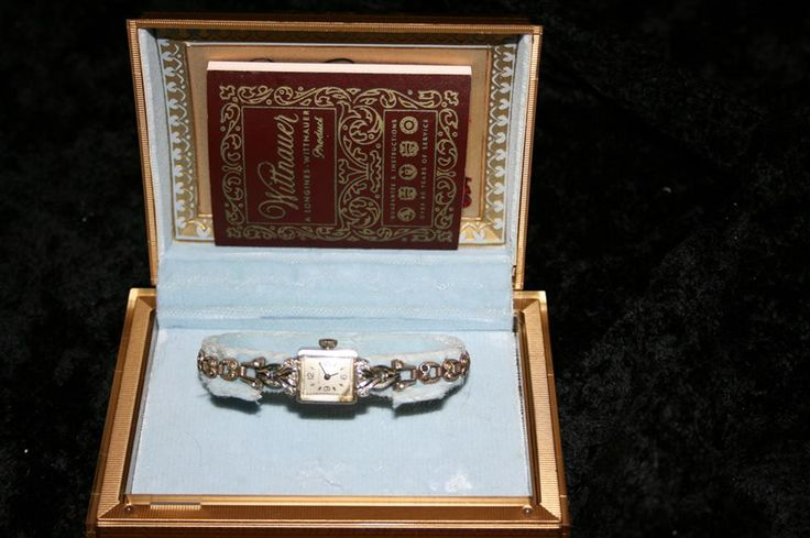 LONGINES-WITTNAUER ANTIQUE WATCH Value: @275 ~ Minimum bid: $200 An antique women's watch by Longines-Wittnauer, Swiss movement, 17 stone, hand-wind, caliber 136233, square white face of 14K white-gold with two small diamonds. Bracelet in white metal, 1/20 of 10 KGF. Original lacquered case with blue velour lining. Good condition. Original guarantee included. Appraised at $275 by Le Parchemin Jewellers in Montreal, May 2007. A copy is available upon request. Bid here…