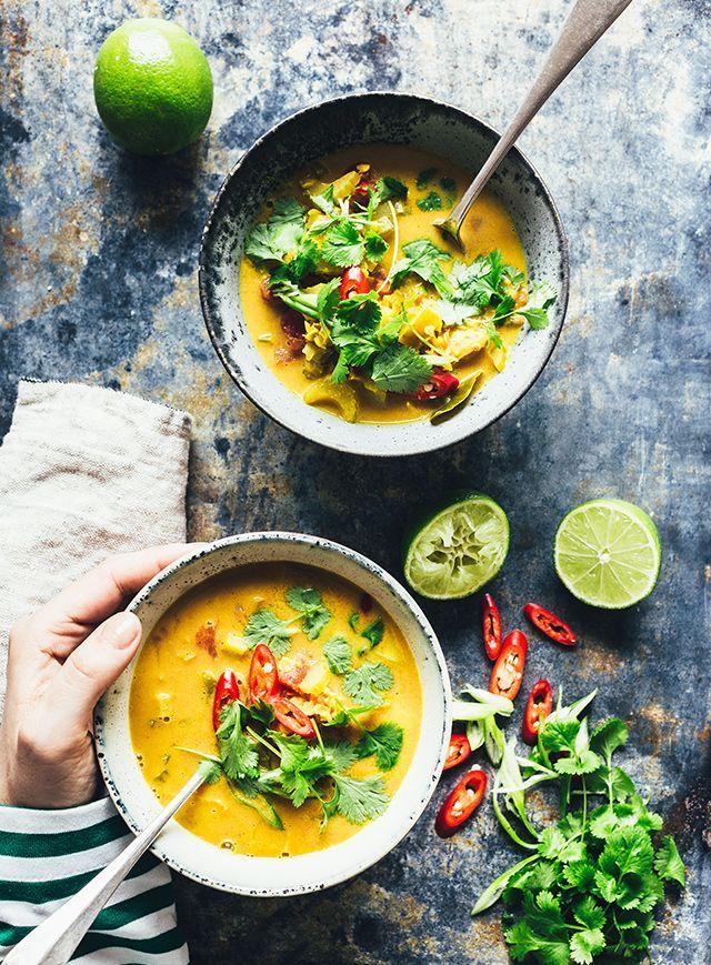 Indisk suppe med kardemomme & æble