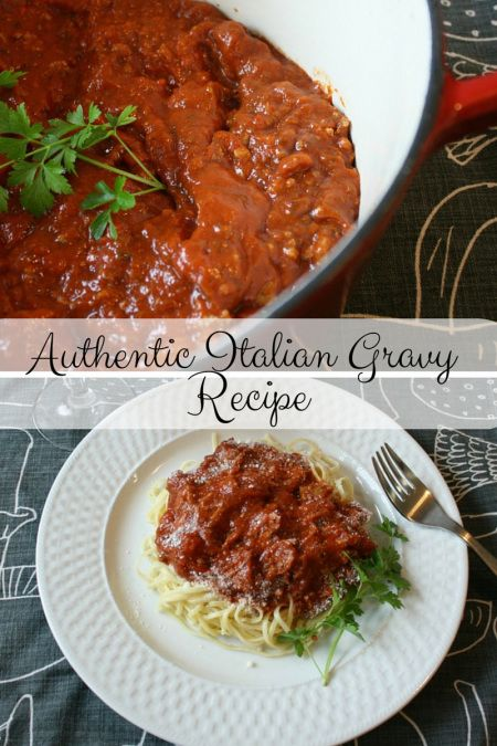 authentic Italian gravy recipe - Authentic Italian Gravy Recipe using RedPack tomatoes.  Uses 4 different types of meats, plus a long simmering time to make a delicious authentic Italian Gravy.