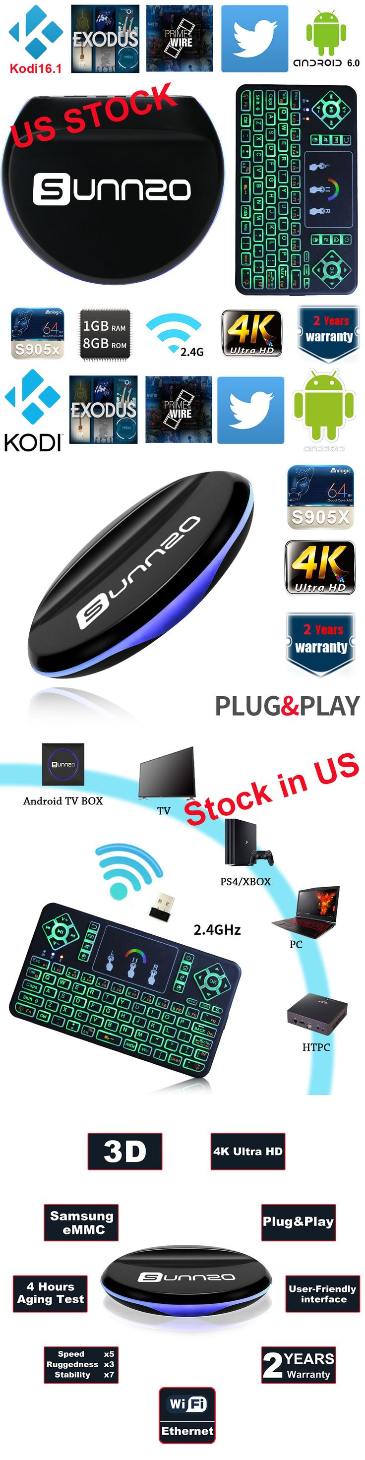 Cable TV Boxes: Kodi 16.1 Android Tv Box S905x Exodus 1 Channel And Rgb Wireless Qwerty Keyboard -> BUY IT NOW ONLY: $53.99 on eBay!