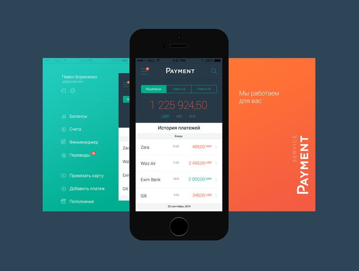 iOS and Android mobile Application, designed for online payment optimization…