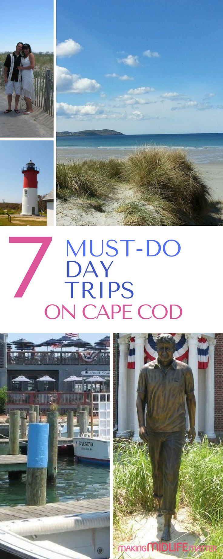 Plan your perfect summer vacation now with these 7 must-do day trips on Cape Cod. So much to do and perfect for families or couples. via @makingmidlife