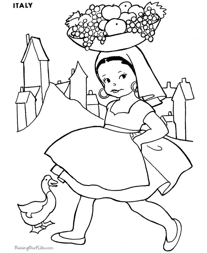 free coloring pages for kids to print - Kids Drawing Sheet