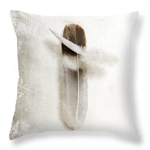 Flying Feathers Throw Pillow by Randi Grace Nilsberg