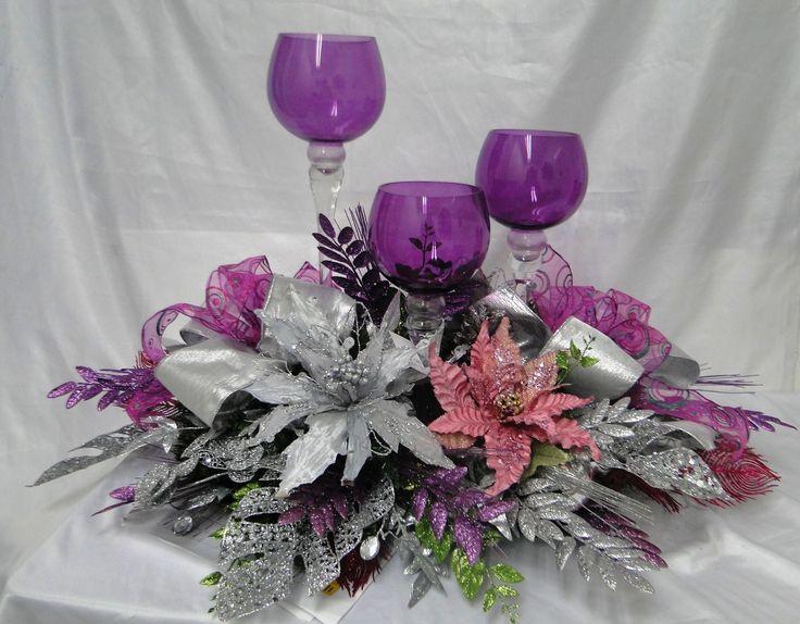 81 best centros de mesa navide os images on pinterest - Decoracion de mesa para navidad ...