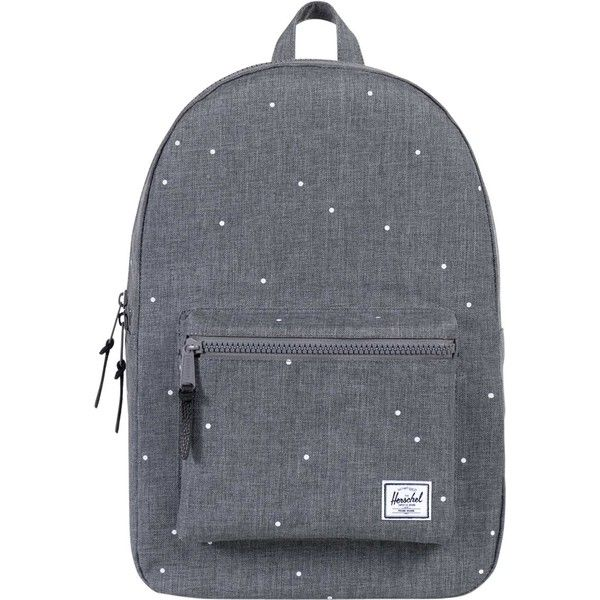 Herschel Settlement Backpack (170 BRL) ❤ liked on Polyvore featuring bags, backpacks, accessories, purses, mochila, grey, leather knapsack, leather rucksack, striped backpack and stripe backpack