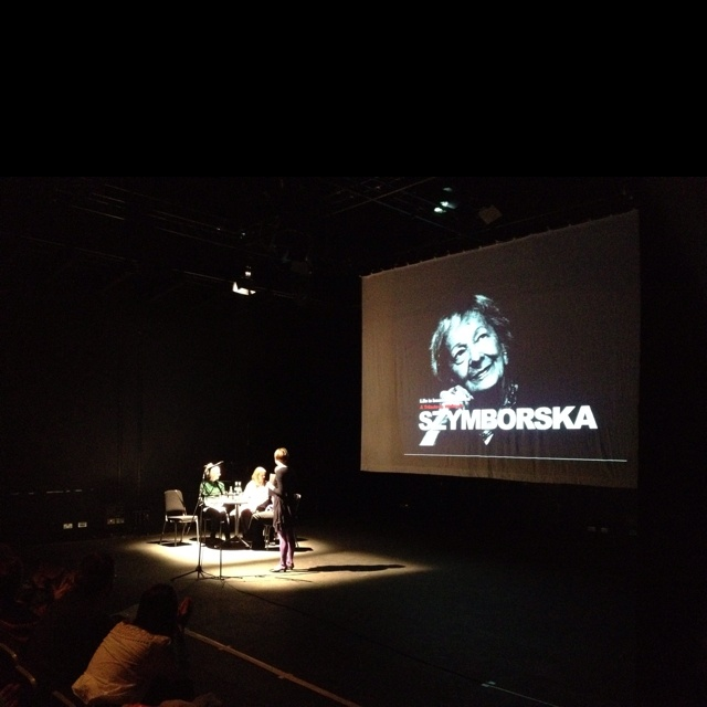Szymborska trinity in LIR Theatre organised by Monika Sapielak of ArtPolonia and CFCP with Irish authors Catherine Phil MacCarthy, Jean O'Brien, Mia Gallager and Mary O'Donnell